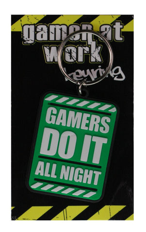 Gaming All Night Keychain