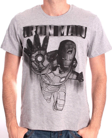 Iron Man Drawing Medium T-Shirt Grey