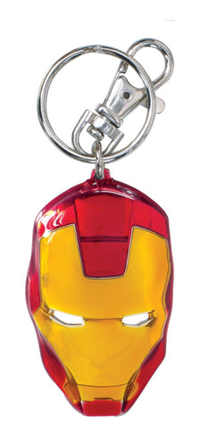 Iron Man Face Colored Pewter Key Chain