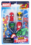 Marvel Collectible Marvel Erasers 4-Pack (Series 1 - Set B)