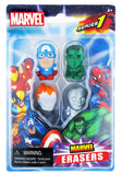 Marvel Collectible Marvel Erasers 4-Pack (Series 1 - Set A)