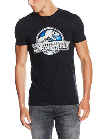 Jurassic World Men's Jurassic World Logo Regular Fit Short Sleeve T-Shirt