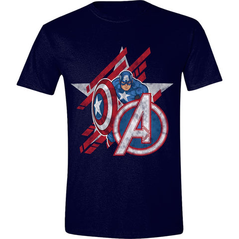 Avengers - Captain America Star Men T-Shirt