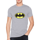 Batman Logo Men's Gray T-Shirt