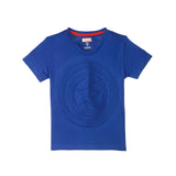 Captain America Embossed Logo Kids T-Shirt