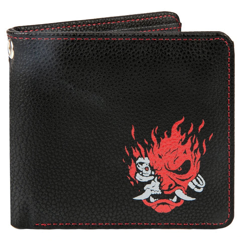 Cyberpunk 2077 Night Samurai Bi Fold Wallet Black/Red