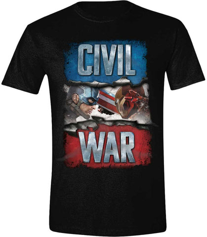 Captain America - Civil War - Civil War Cover Black T-Shirt