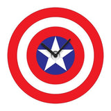 Captain America Shield Wobble Clock Wall