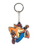 Crash Bandicoot Crash Rubber Keychain