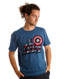 Captain America River Blue T-Shirt