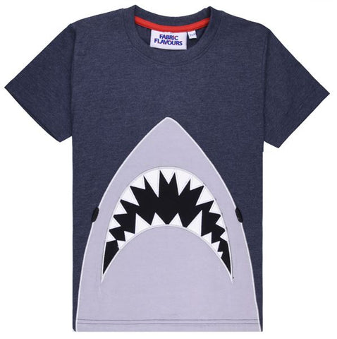 Jaws Applique T-Shirt