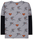 Superman Inset Sleeve T-Shirt
