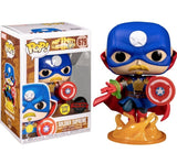 Funko POP! Marvel: Marvel- Soldier Supreme Glows Wallgreens Exclusive