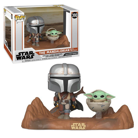 Funko POP! Moment Mandalorian & Child Vinyl Figure