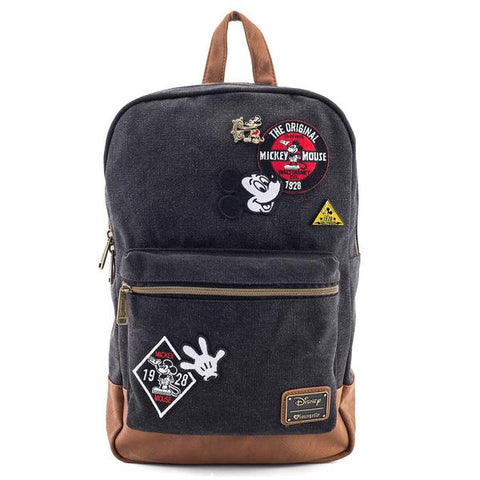 Loungefly Mickey Mouse Demin Patch Rucksack