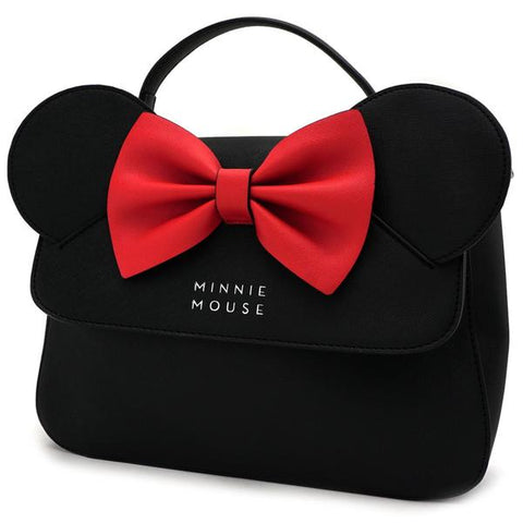 Loungefly Minnie Mouse Ear And Bow Crossbody Bag