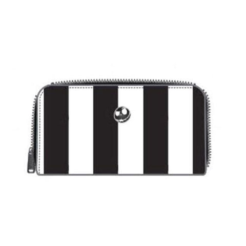 Loungefly Nightmare Before Christmas Stripped Saddle Zip Around Wallet