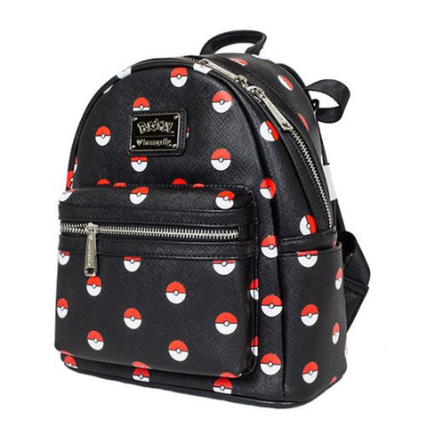 Pokemon Pokeball Black Fashion Mini-Backpack