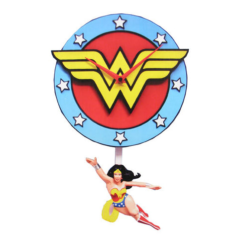 Wonder Woman 3D Pendulum Wall Clock