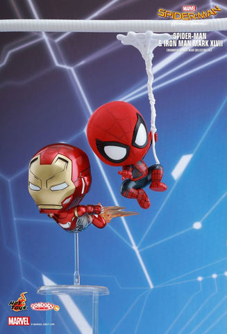 Cosbaby Set Spiderman & Iron Man Vinyl Figure