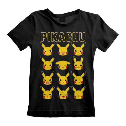 Pokemon - Pikachu Faces Kids T-Shirt