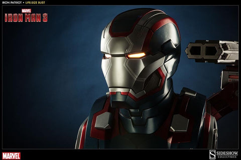 Iron Man 3 Iron Patriot Life Size Bust