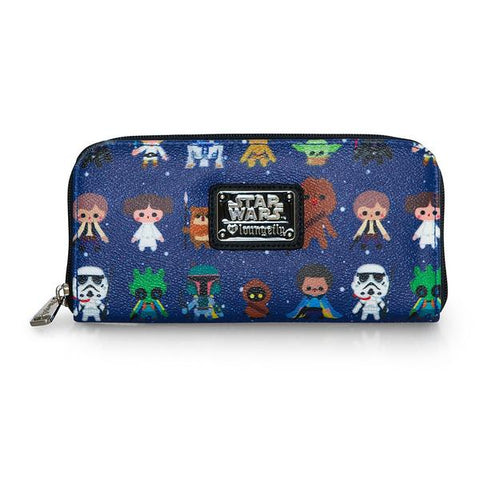 Loungefly Star Wars AOP Zip Around Wallet