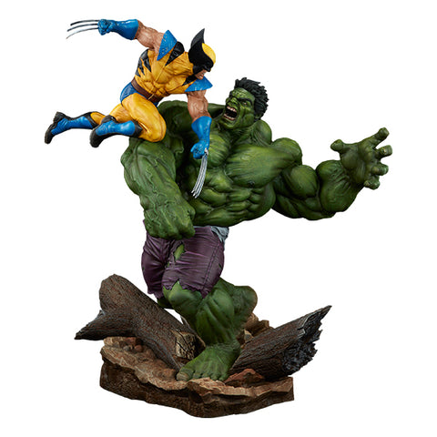 Sideshow Hulk and Wolverine Maquette - Collector Edition Figure