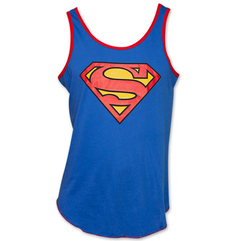 Superman Logo Tank Top Blue
