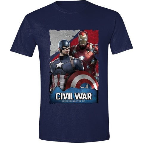 Captain America Civil War Navy Captain America IronMan Pose Men