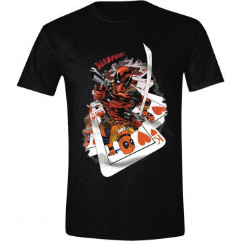 Deadpool Cards T-Shirt Black