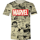 Marvel Comics - Logo & Comic Panels Men T-Shirt