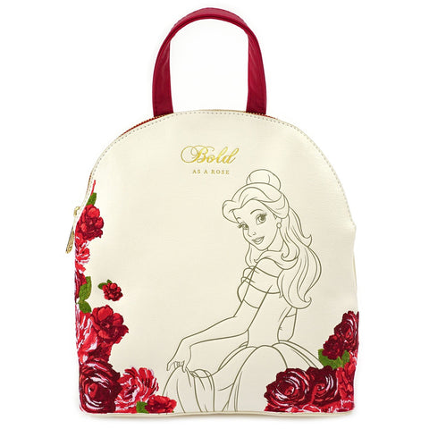 Loungefly Beauty and the Beast Bold as a Rose Mini Backpack