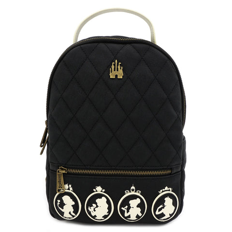 Loungefly Disney Princess Black Disney Faux Leather Mini Backpack