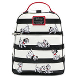 Loungefly Disney 101 Dalmatians Striped Mini Backpack (Preorder)