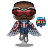 Funko POP! The Falcon and the Winter Soldier - Captain America (Sam Wilson) Flying Vinyl Figure Geek Nation Exclusive (Preorder)