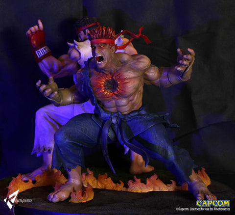 The Beast Unleashed - Evil Ryu Statue By Kinetiquettes
