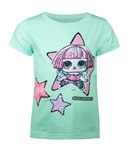 LOL Surprise! Aqua Blue Girls T-Shirt