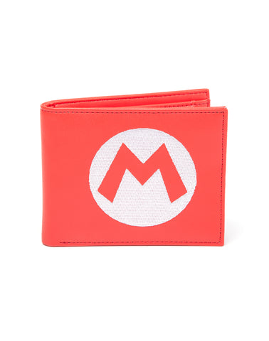 Nintendo - Super Mario Red Bifold Wallet With Symbol Embroidery