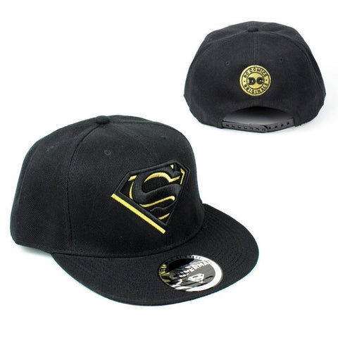 Superman Black/Gold Logo Cap