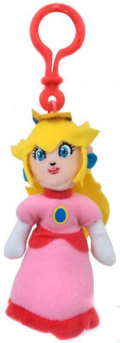 World Of Nintendo Princes Peach Plush Hangers W2