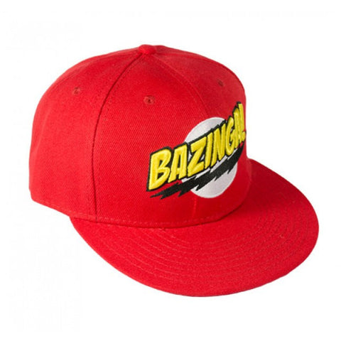 Big Bang Theory Logo Bazinga Cap Red