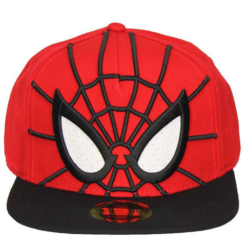 Spiderman Mesh Eyes Cap Red