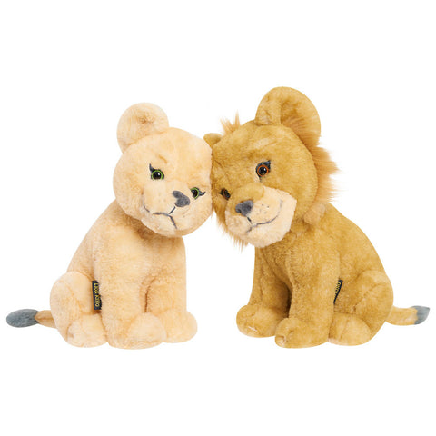 Disney Lion King Live Action Simba & Nala Plush Pair