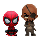 Cosbaby Spiderman Far From Home Spider & Nick Fury Vinyl Figure