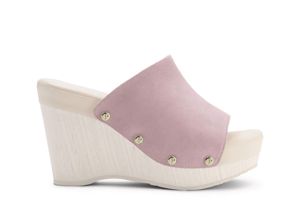 The Renee Pale Pink Suede Upper