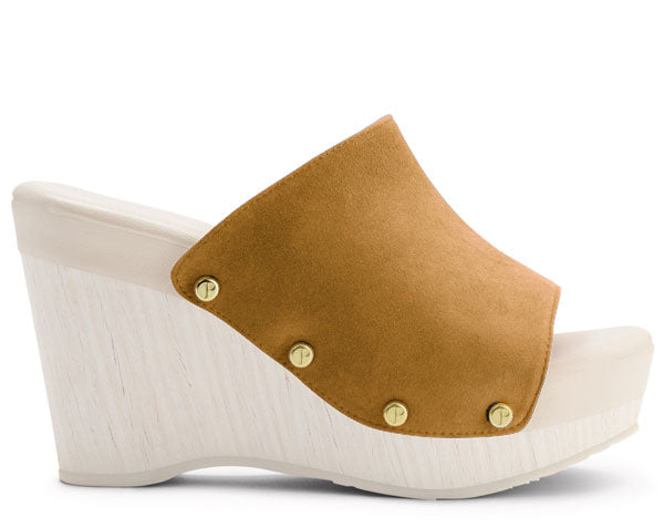 The Renee Suede Upper in Caramel