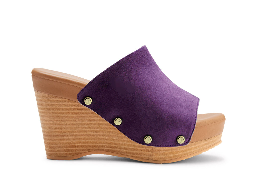 The Renee Royal Plum Suede Upper