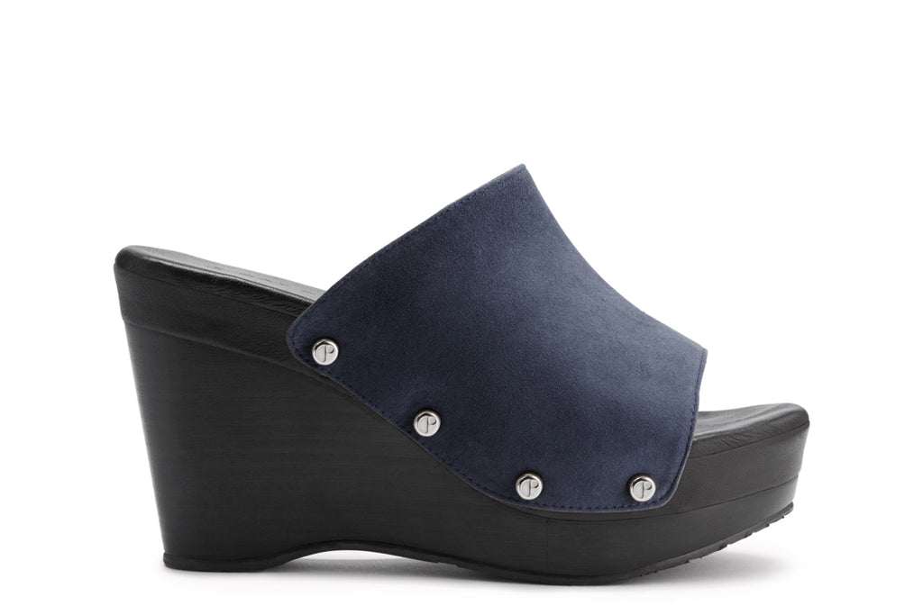 The Renee Blue Suede Upper