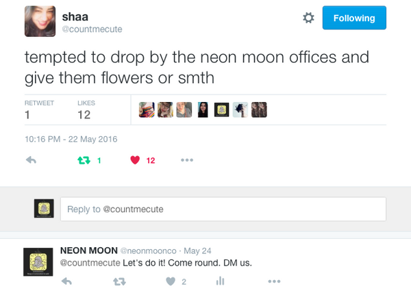 A Neon Moon Supporter Tweeted To Meet Us, So This Happened!